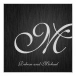 El boda elegante del monograma invita comunicados personalizados