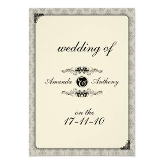 El boda elegante invita invitación 12,7 x 17,8 cm