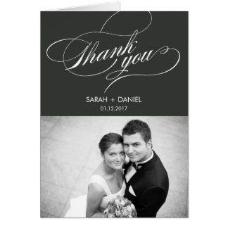 El boda ELEGANTE le agradece tarjeta de la foto