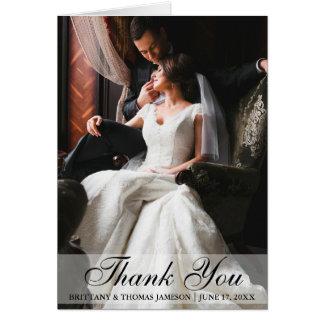 El boda elegante le agradece tarjeta plegable de