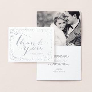 El boda elegante moderno del marco de los puntos tarjeta con relieve metalizado