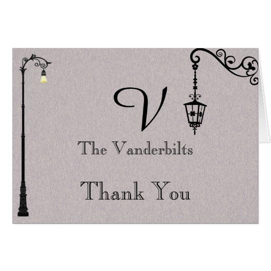 El boda fácil grande le agradece tarjeta pequeña