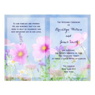 El boda floral de encargo programa las flores folleto 21,6 x 28 cm