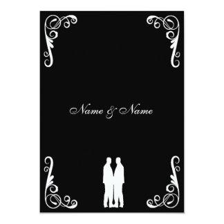 El boda gay invita - a dos novios invitación 12,7 x 17,8 cm