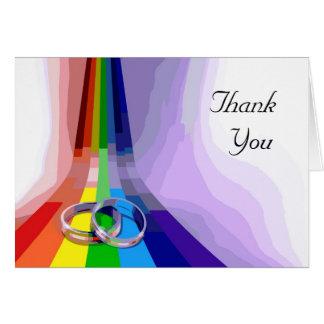 El boda gay le agradece tarjeta de felicitación