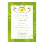 El boda irlandés del corazón lindo artístico de invitación 12,7 x 17,8 cm