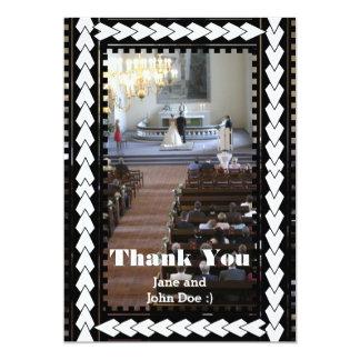 El boda lindo le agradece las tarjetas invitación 12,7 x 17,8 cm