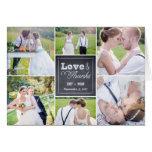 El boda marcado con tiza del collage le agradece c tarjetas