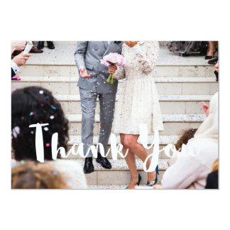 El boda moderno agradece su tarjeta invitación 12,7 x 17,8 cm