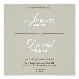 El boda moderno de Decorativ II del vintage invita Invitación 13,3 Cm X 13,3cm