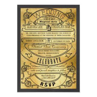 El boda moderno del boleto de la tipografía del invitación personalizada