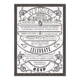 El boda moderno del boleto de la tipografía del comunicado