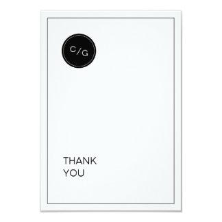 El boda moderno minimalista blanco negro le invitación 8,9 x 12,7 cm