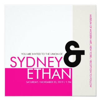 El boda moderno minimalista simple de Mondrian Comunicado