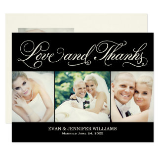 El boda negro del amor y de las gracias el | le invitación 10,8 x 13,9 cm