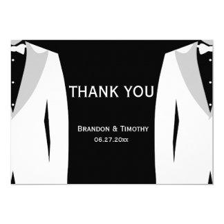 El boda negro gay le agradece las tarjetas invitación 12,7 x 17,8 cm