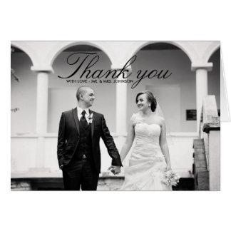 Tarjetas de felicitación de agradecimiento por asistir a la boda