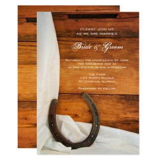 El boda occidental del país de la herradura y del invitación 12,7 x 17,8 cm