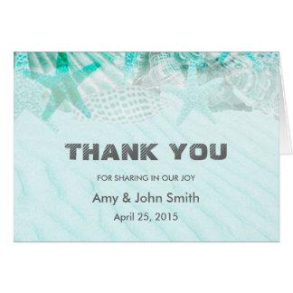 El boda personalizado le agradece tarjeta