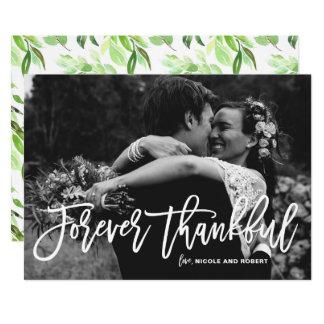 El boda puesto letras mano agradecida le agradece invitación 12,7 x 17,8 cm