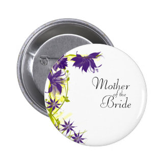 El boda púrpura de la isla florece a la madre de chapa redonda de 5 cm