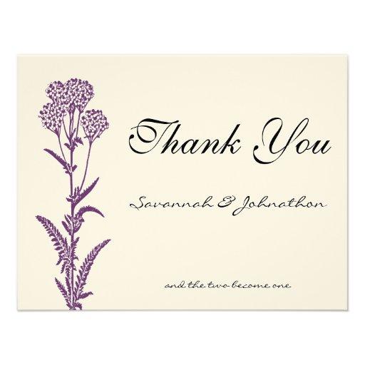 El boda púrpura de la rama de la flor salvaje le a comunicado personal