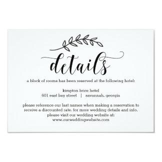 El boda rústico de la elegancia detalla tarjetas