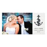 El boda rústico del ancla le agradece tarjeta de tarjetas personales