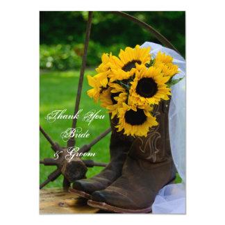 El boda rústico del país de los girasoles le invitación 11,4 x 15,8 cm