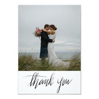 El boda rústico le agradece foto manuscrita de la invitación 8,9 x 12,7 cm