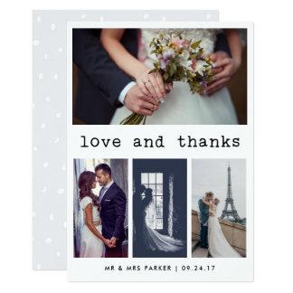 El boda simple del texto de la máquina de escribir invitación 12,7 x 17,8 cm