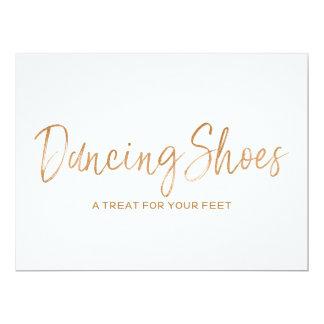 """El boda subió oro elegante """"baile calza"""" la invitación 16,5 x 22,2 cm"""