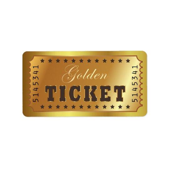 El boleto de oro admite que uno protagoniza el etiquetas de dirección