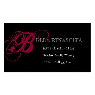 El boleto perfecto del baile de fin de curso tarjetas de visita