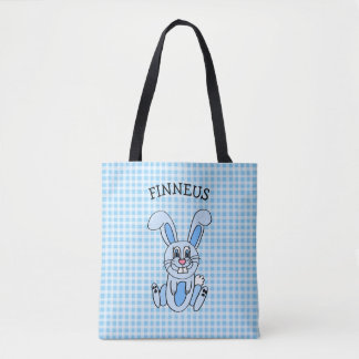 El bolso azul de pascua del muchacho azul
