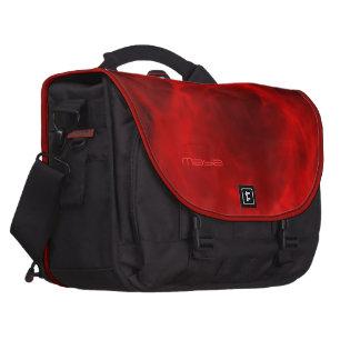 El bolso negro y rojo del maya del viajero bolsas para ordenador