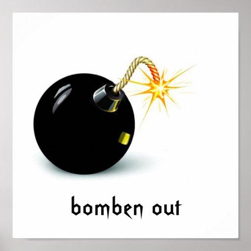 el bom, bomben hacia fuera poster