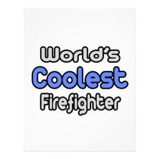 El bombero más fresco del mundo folleto 21,6 x 28 cm