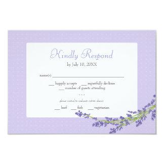 El bonito en la púrpura el | que se casa responde invitación 8,9 x 12,7 cm