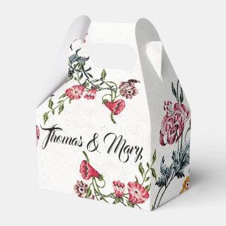 El bordado del vintage florece la caja floral del