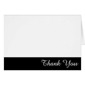 El borde blanco y negro le agradece tarjeta