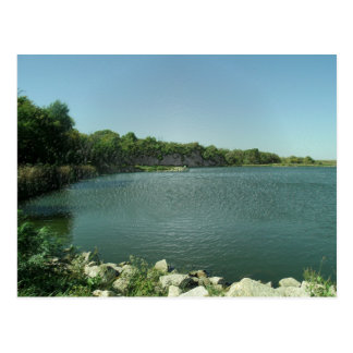 El borde del lago tarjeta postal
