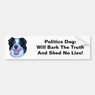 El border collie de la política raspará la verdad etiqueta de parachoque