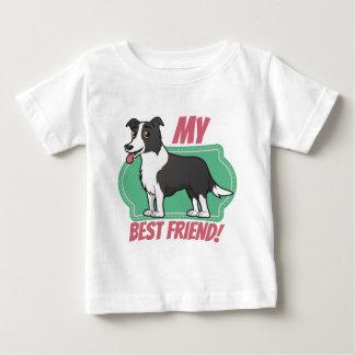 El border collie es mi mejor amigo camiseta de bebé