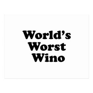 El borracho peor del mundo postal