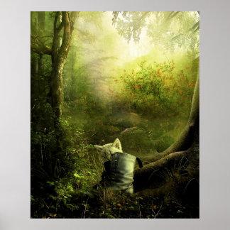 EL Bosque del en del jugando Posters