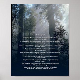 El bosque y Sun lo hacen de todos modos Póster