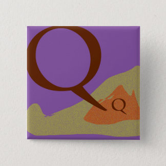 El botón cuadrado de la letra Q