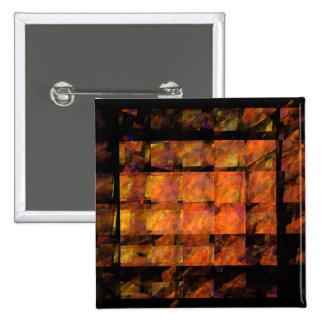 El botón del arte abstracto de la pared (cuadrado)