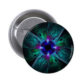 El botón del arte abstracto del ojo (redondo)